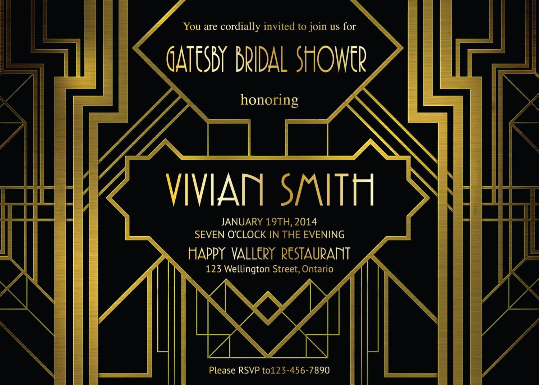 Great Gatsby Invite