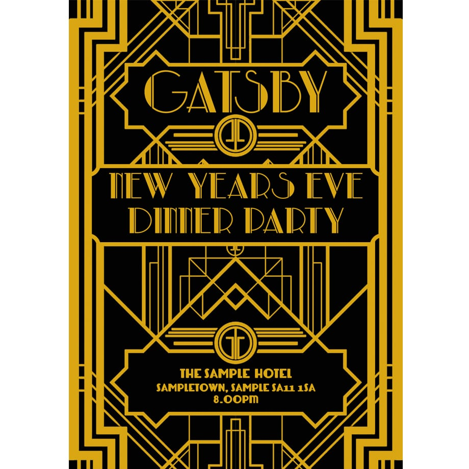 Great Gatsby Party Invitations – Gangcraft Net