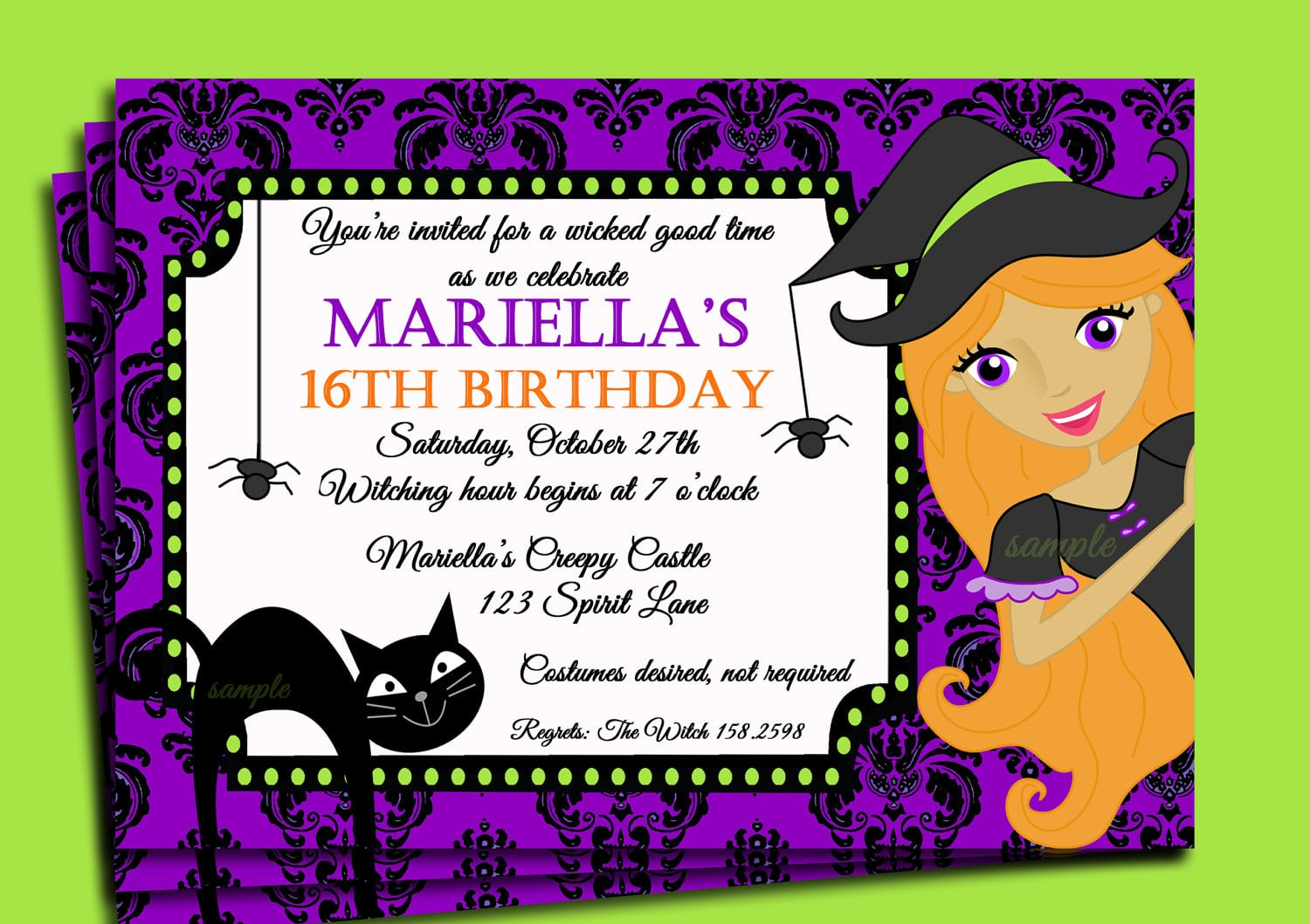 Halloween Birthday Party Invitation Templates Cool