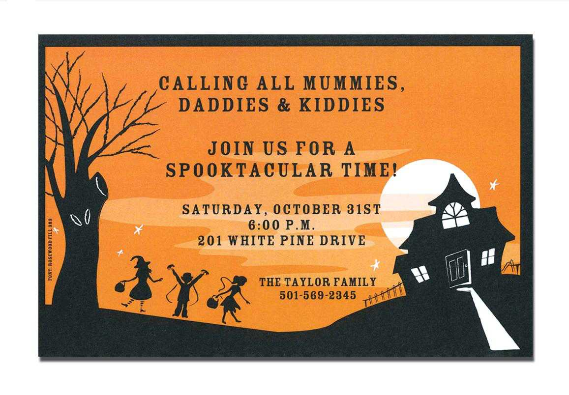 Halloween Housewarming Party Invitations Amazing Halloween