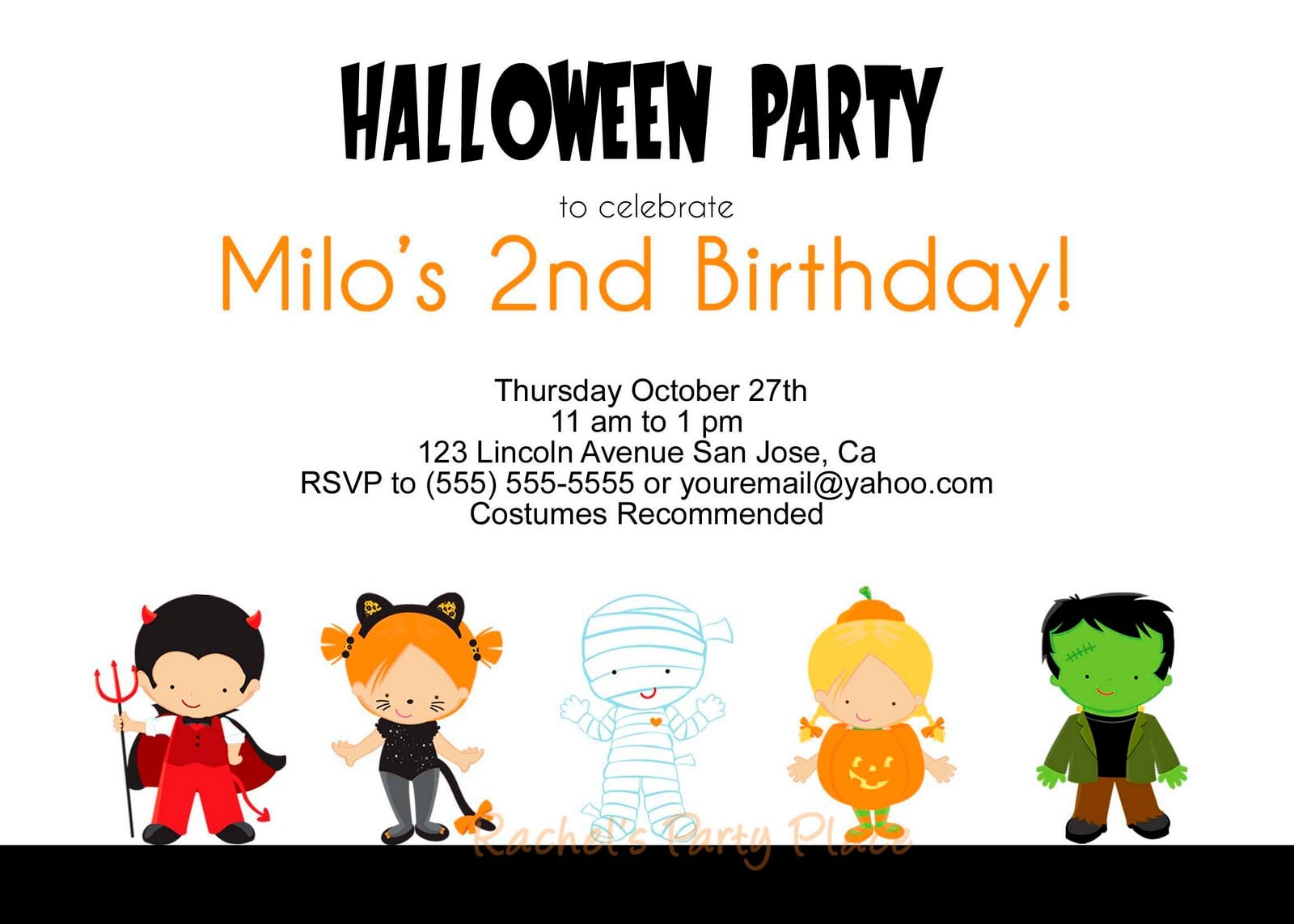 Halloween Kids Party Invitations Alluring Halloween Kids Party