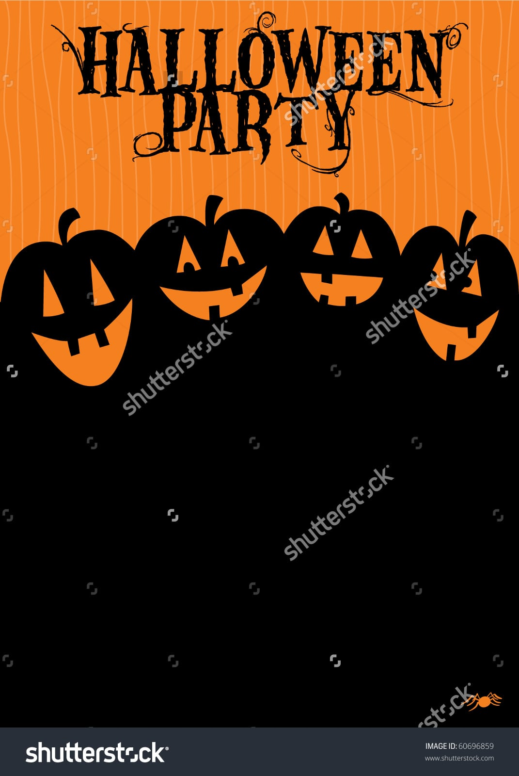 Halloween Party Invitation Stock Vector Illustration 60696859