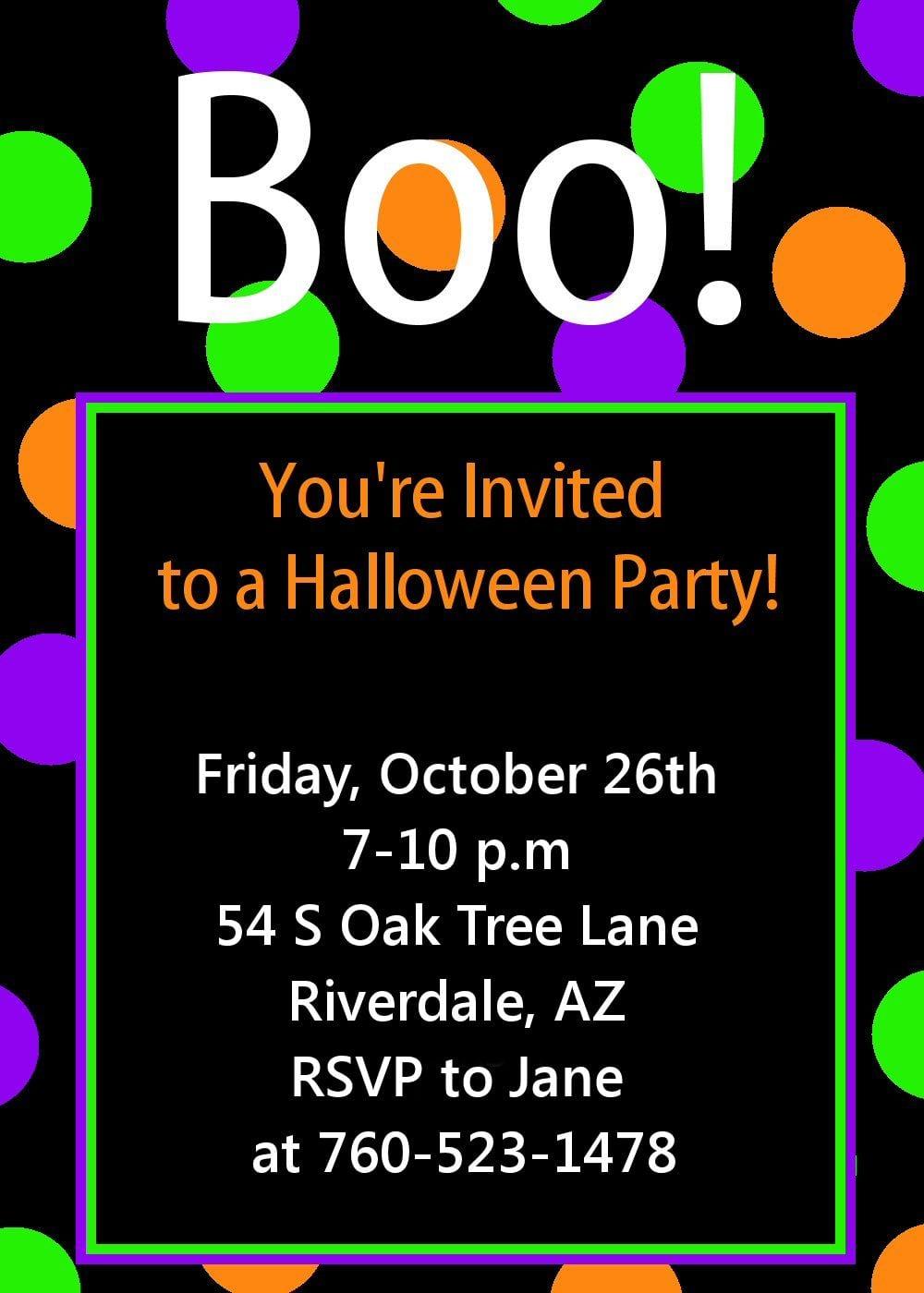 Halloween Party Invitation Templates Free Halloween Party
