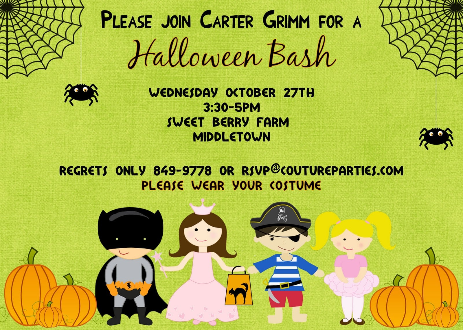 Halloween Party Invitations For Kids Alluring Halloween Party