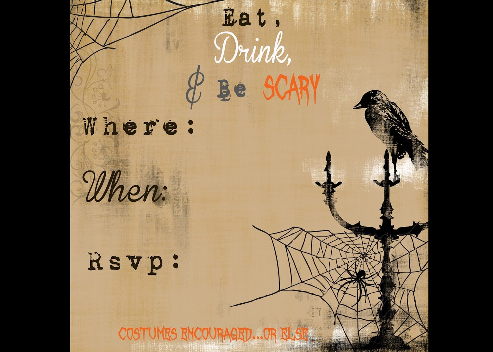 Halloween Party Invitations Templates – Gangcraft Net