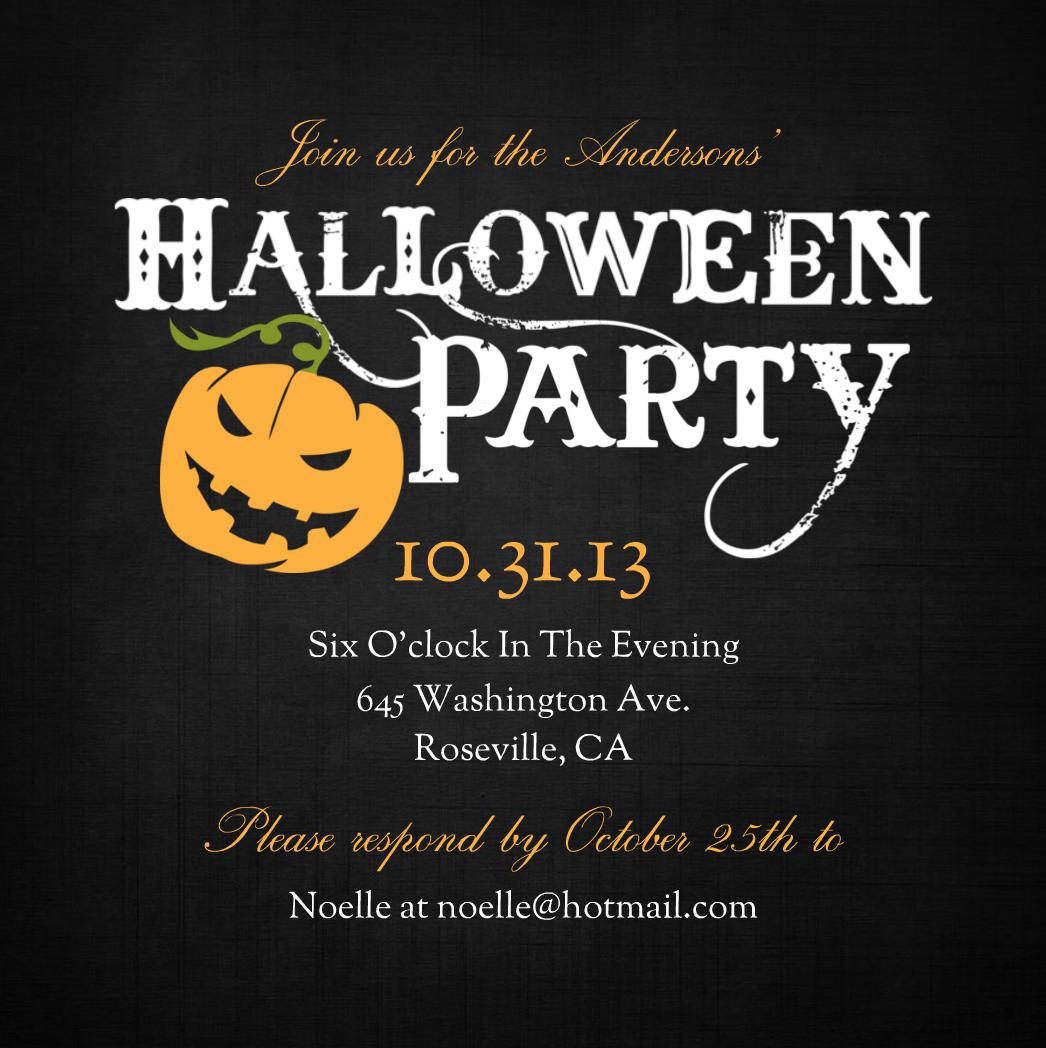Halloween Party Invites – Gangcraft Net