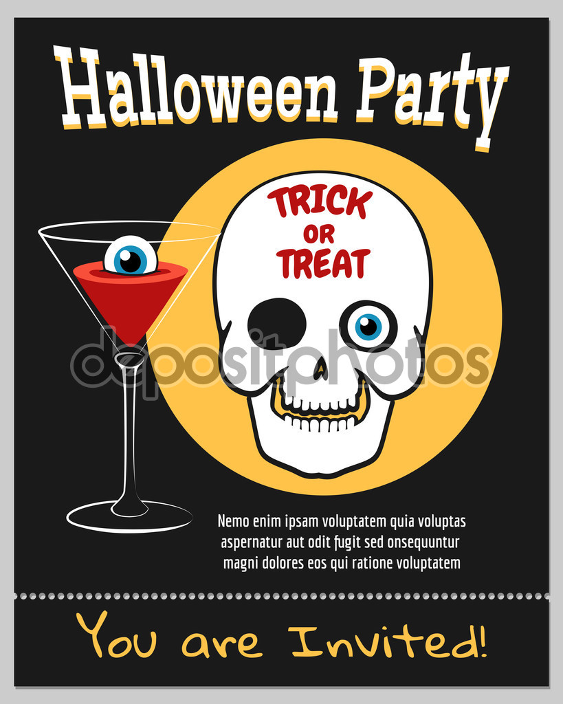 Halloween Zombie Party Invitation — Stock Vector © Vectortatu