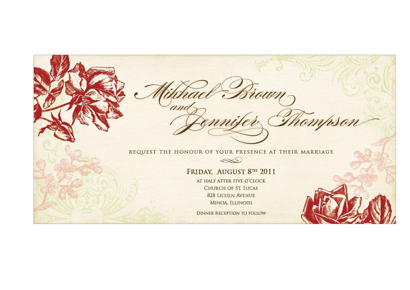 Handmade Wedding Invitation Template Design Invitation Templates