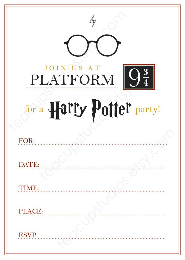 Harry Potter Party Invitation Template Inspirational