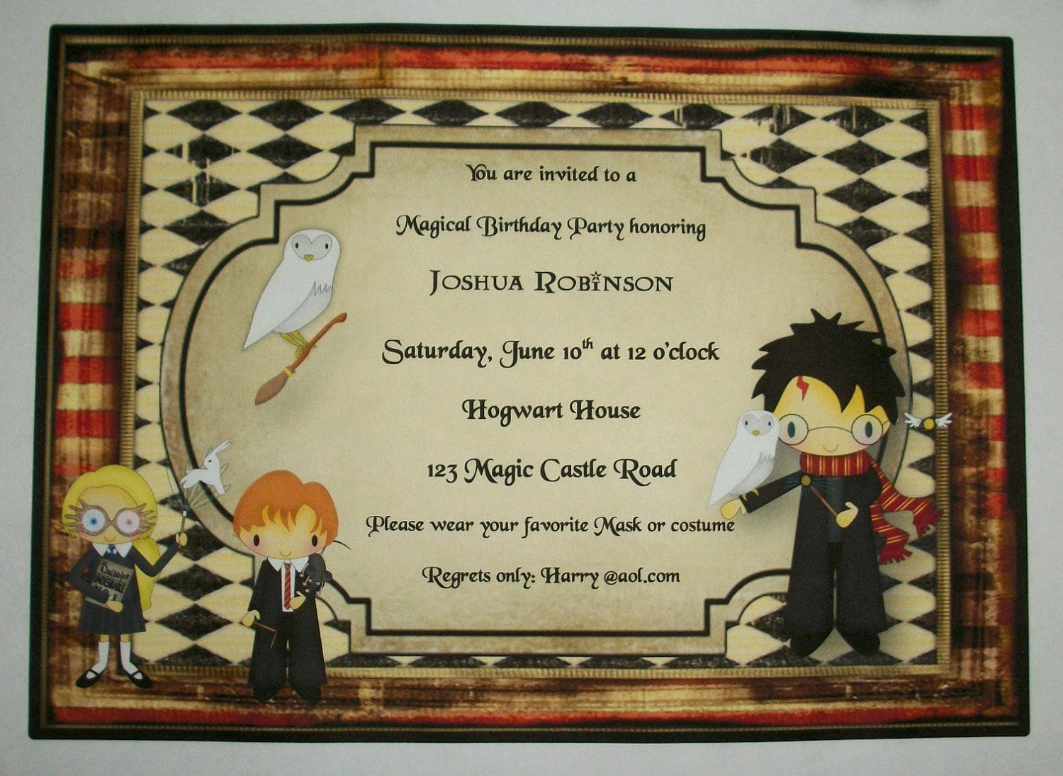 Harry Potter Party Invitations – Gangcraft Net