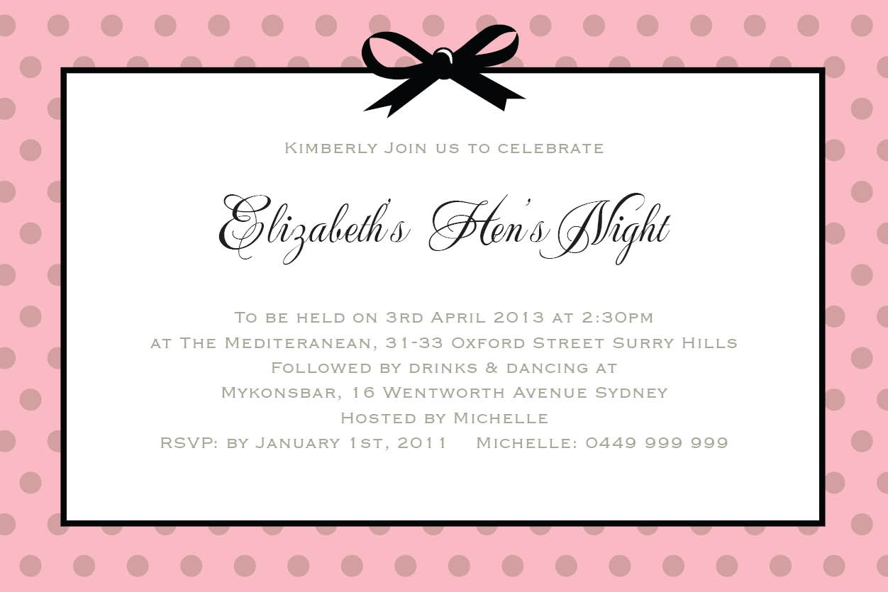 Hen Party Invitations Templates - Mickey Mouse Invitations Templates