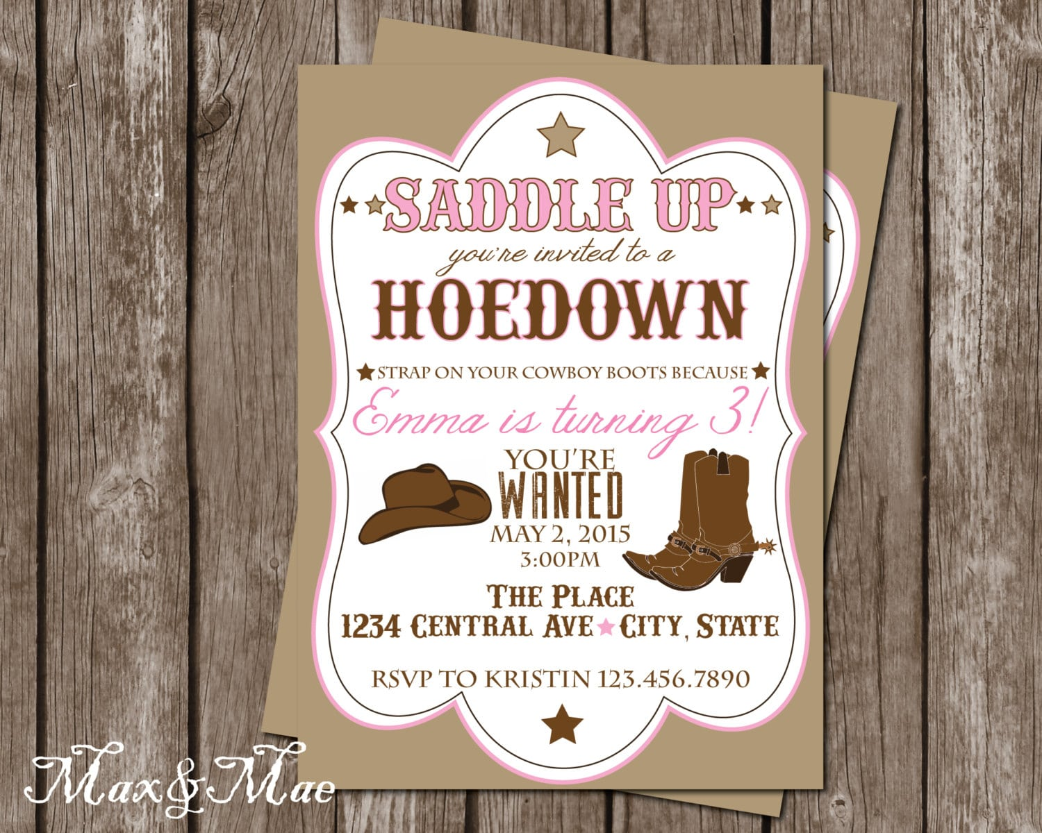 Hoedown Party Invitations - Mickey Mouse Invitations Templates