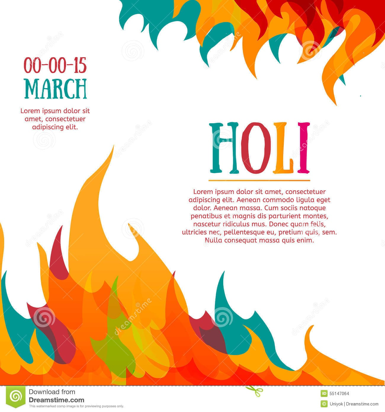 Holi Festival Poster Stock Photos, Images, & Pictures
