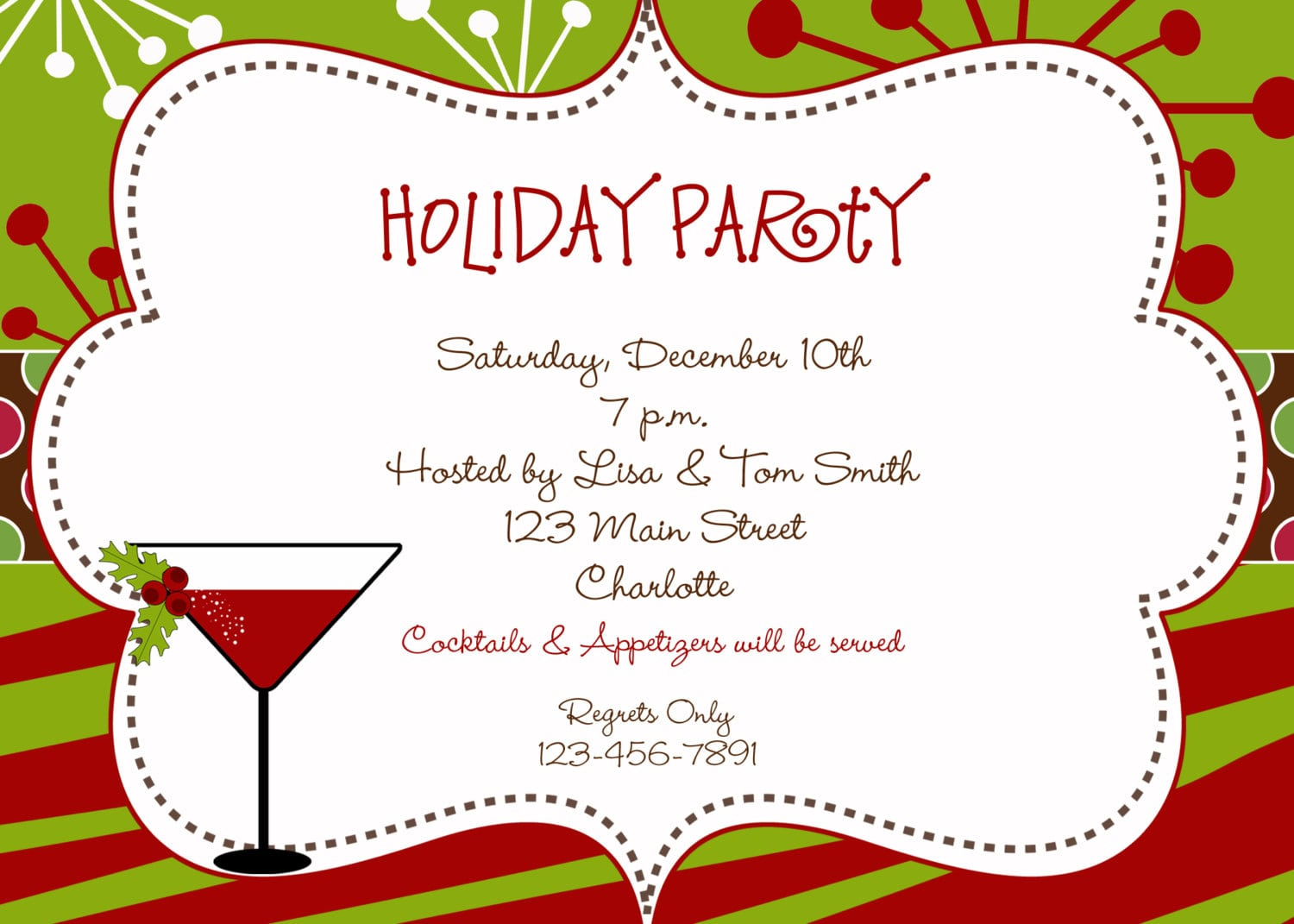 Holiday Cocktail Party Clipart