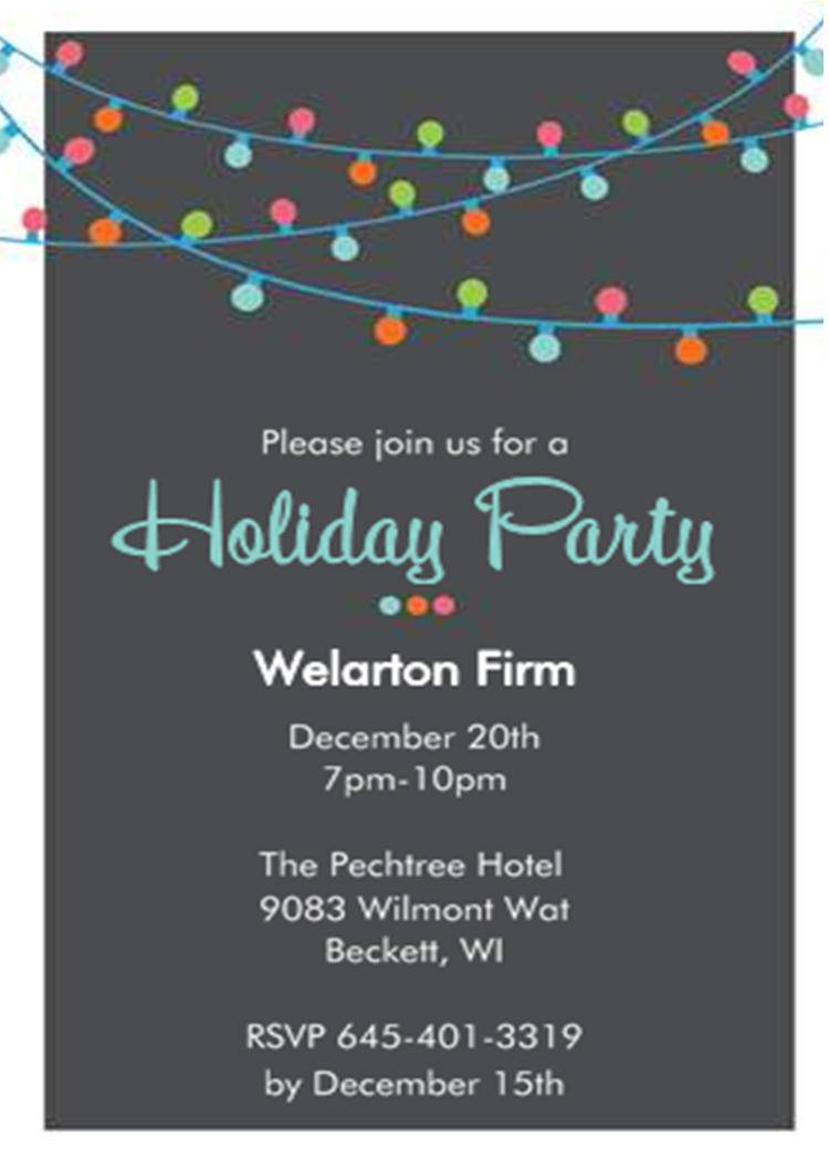 Holiday Party Email Invitation Template Free