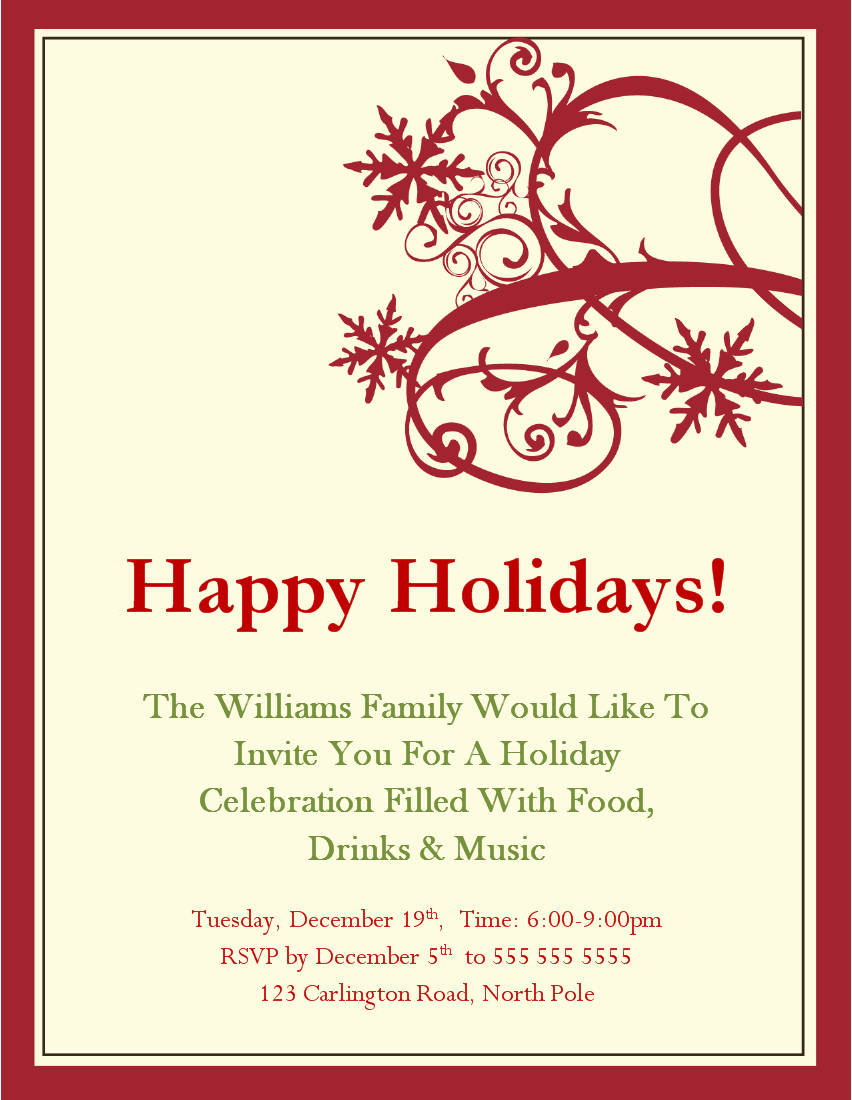 Holiday Party Invite Templates  1000 Ideas About Christmas Party