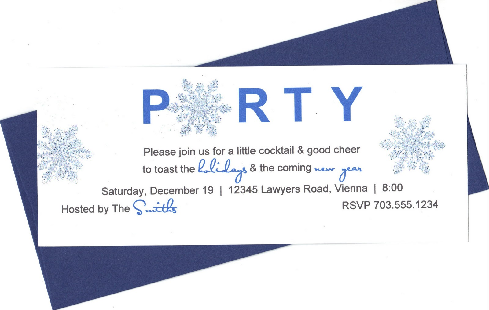 Holiday Party Invite Wording