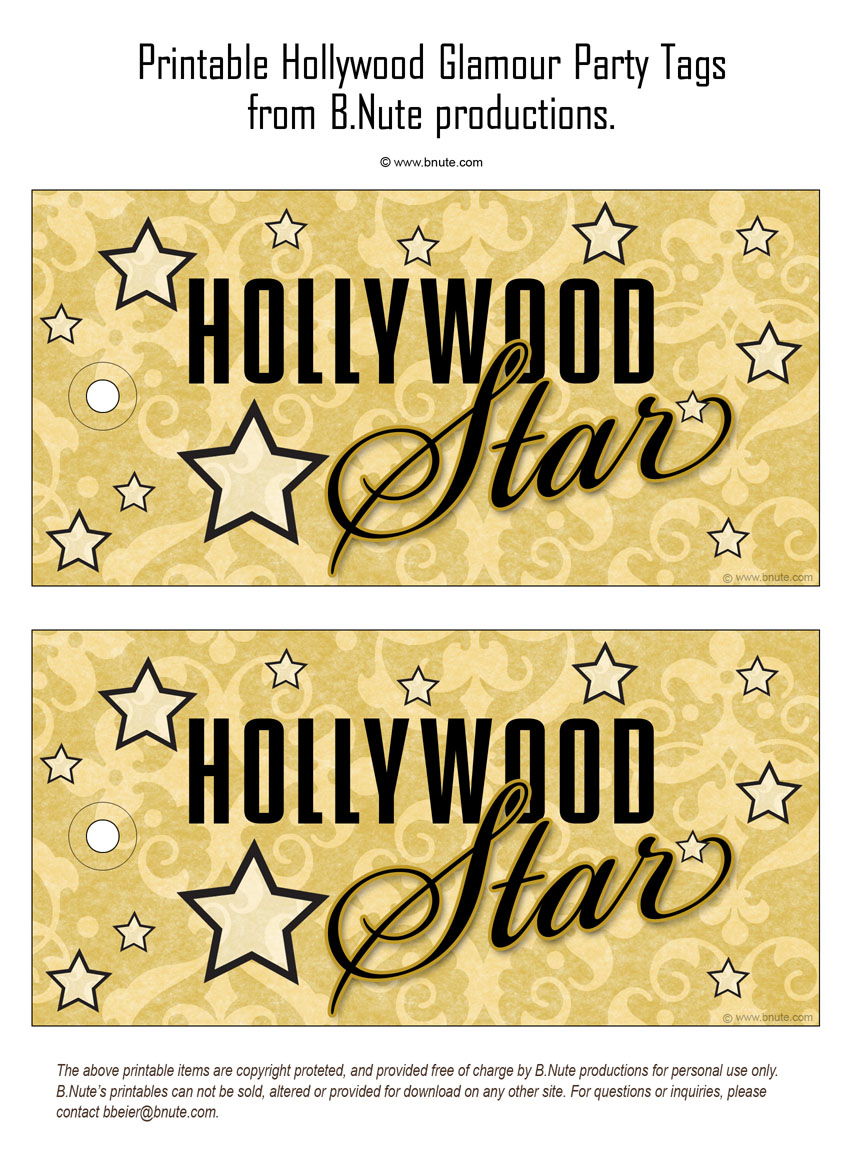Hollywood Glamour Party  Invitations, Decorations, Art Activites