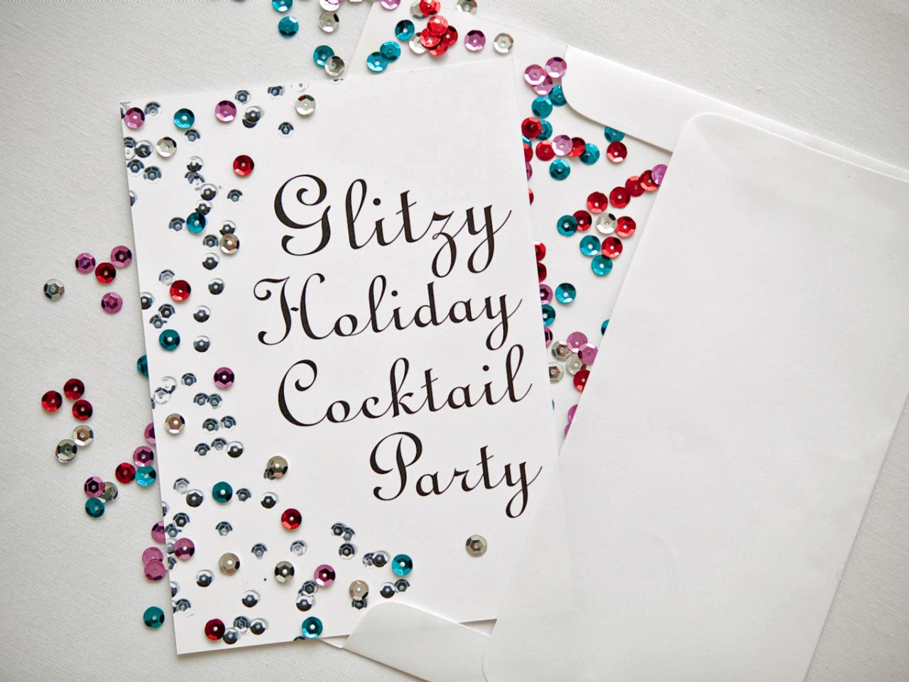 How To Make Holiday Cocktail Party Invitations
