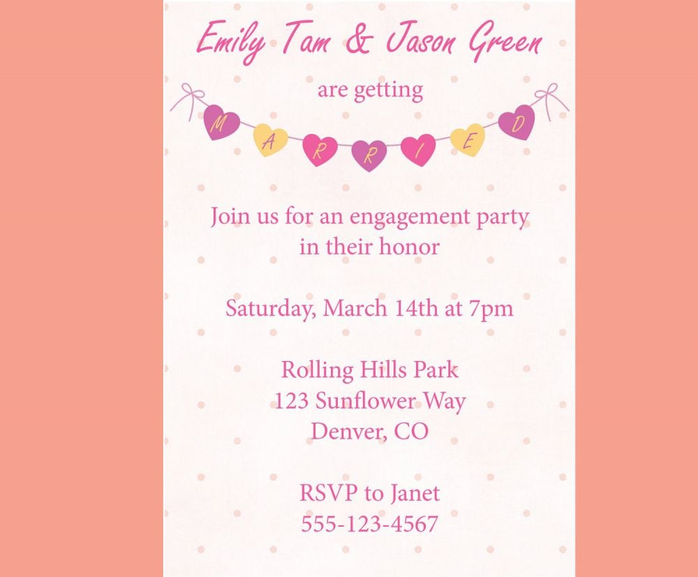 ... How To Word Engagement Party Invitations Engagement Party  How To Word Engagement Party Invitations