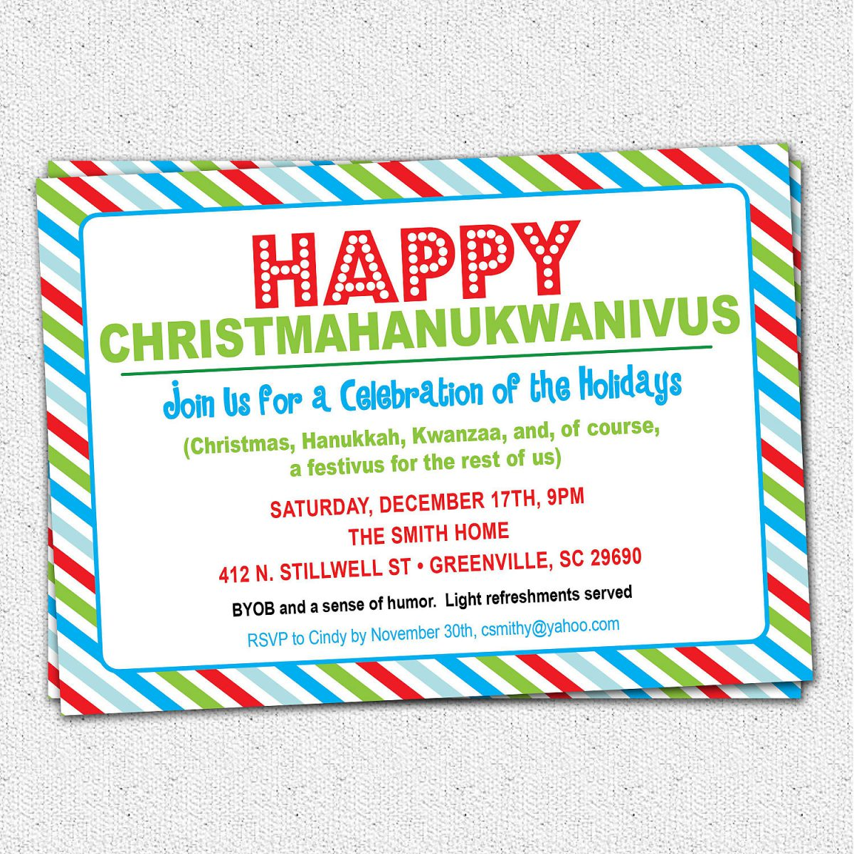 How To Write A Christmas Party Invitation