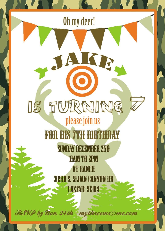 Hunting Party Invitation