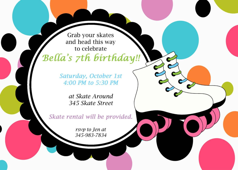 Ice Skating Birthday Party Invitations Free Printable