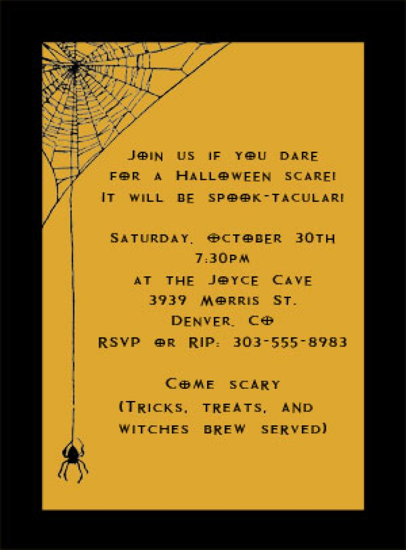 Ideas For Halloween Party Invitations