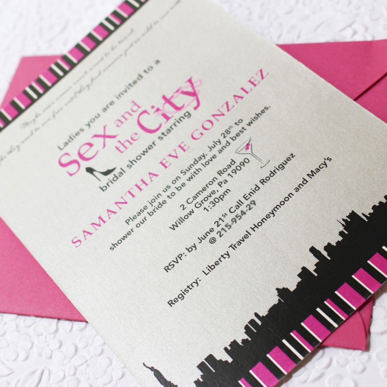 Images Of Party City Bridal Shower Invitations