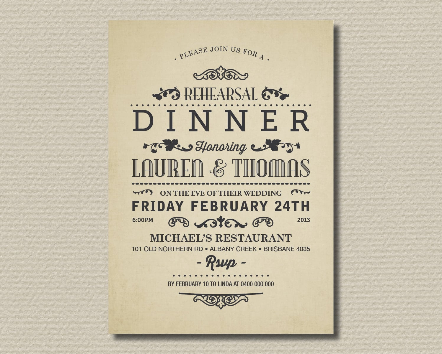Impactful Invitation To A Dinner Party At Rustic Article Happy