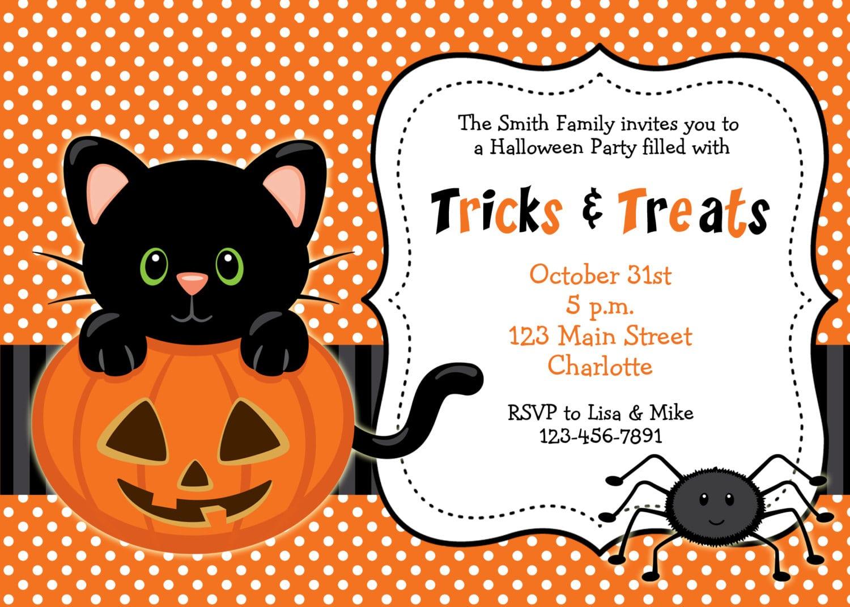 Incredible Free Halloween Birthday Party Invitation Templates