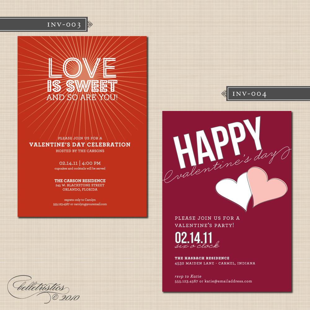 Interesting Valentine Day Party Invitation Card Ideas