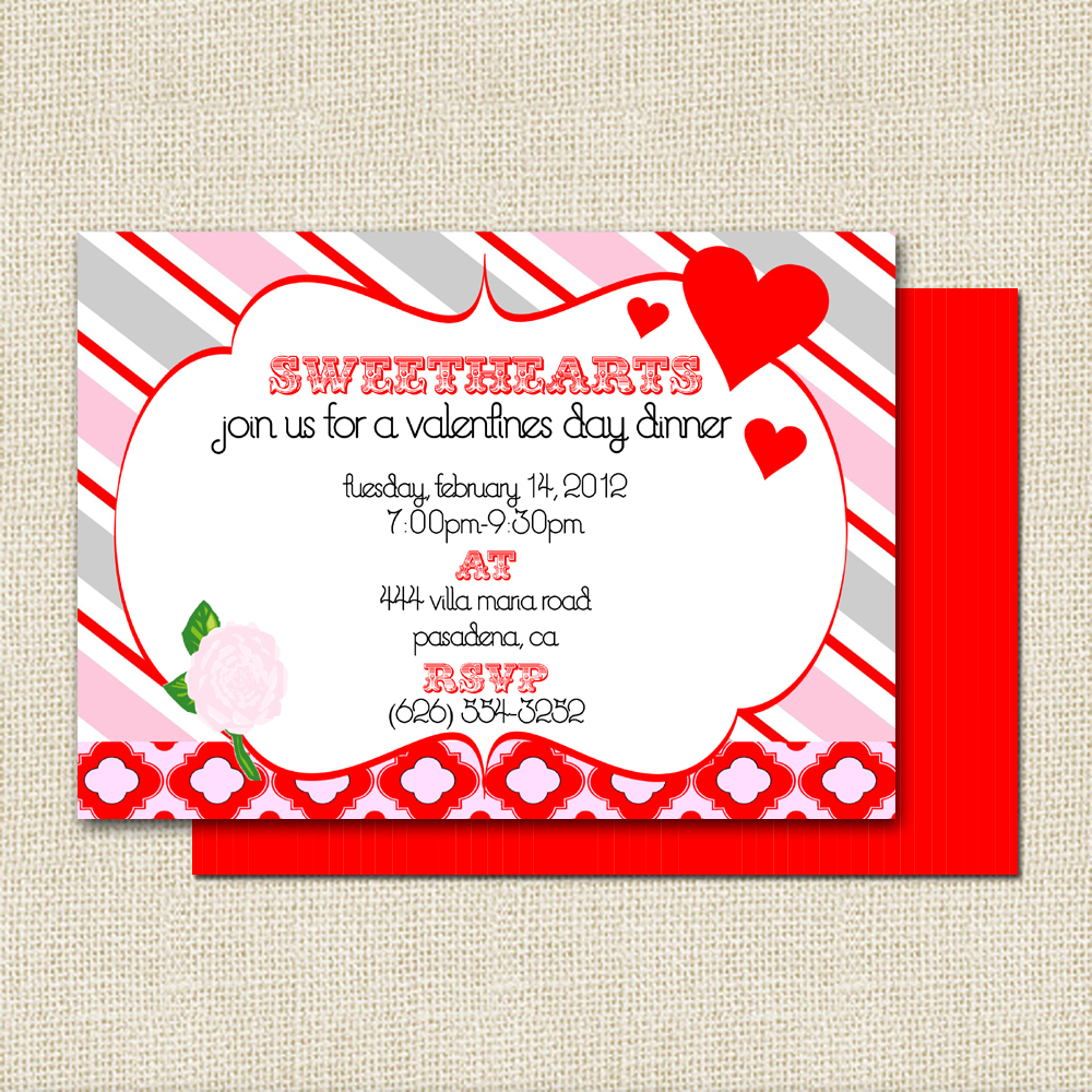 Interesting Valentine Day Party Invitation Card Ideas