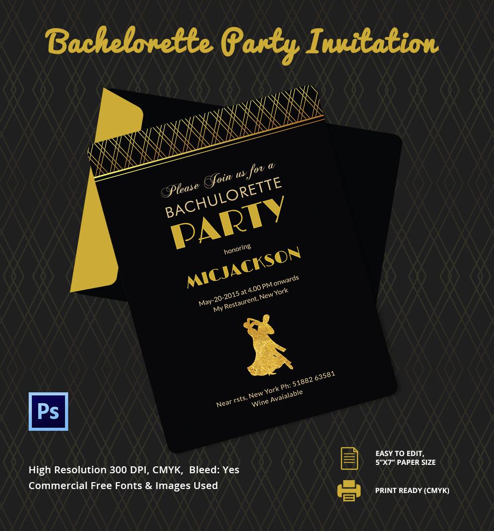 Invitation  Bachelor Party Invitation Template