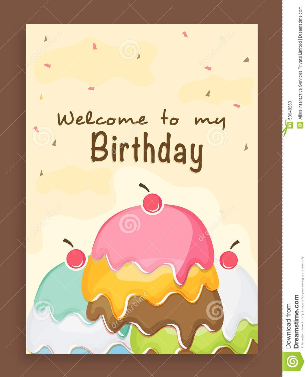 Invitation Card Design For Birthday Party  Stock Photo