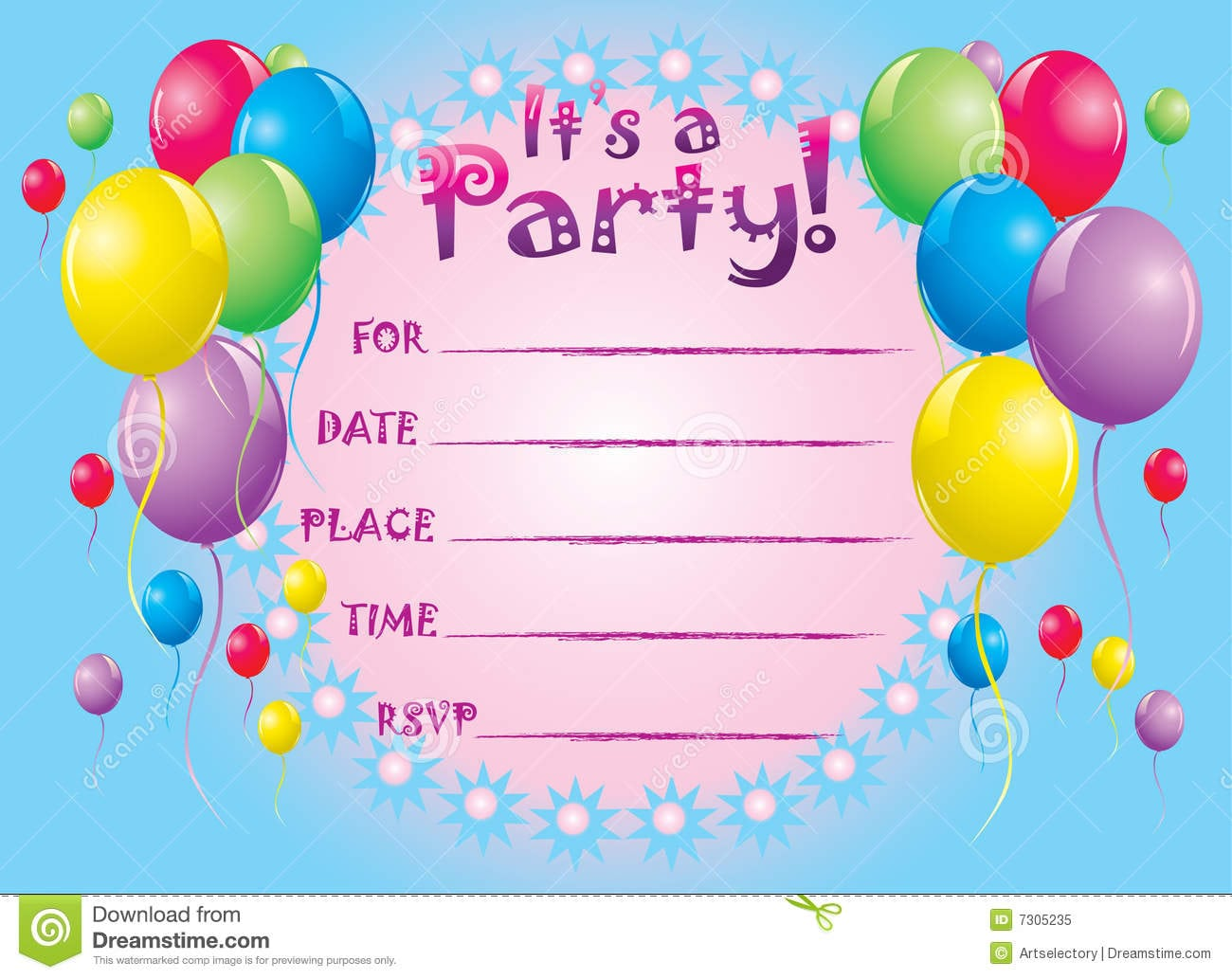 Invitation Card For Birthday