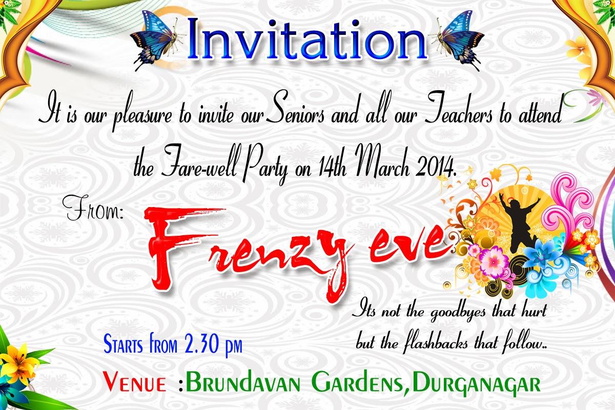 Invitation Card For Farewell  Invitation And Farewell Party Flex