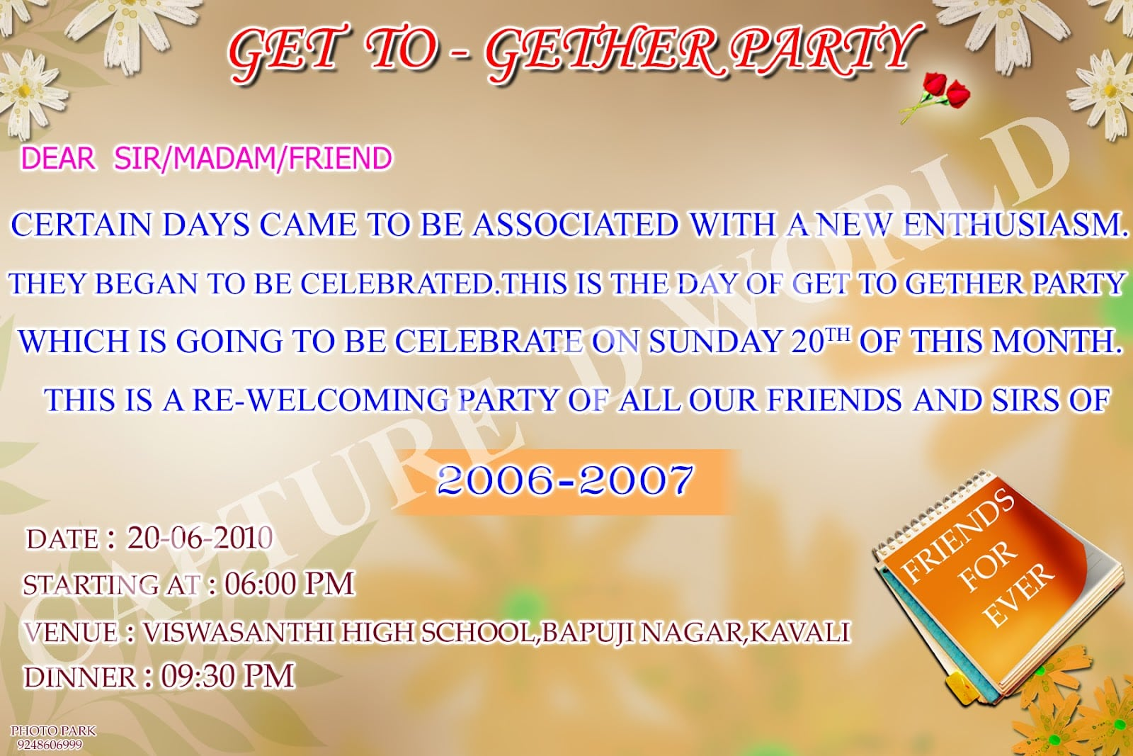 Invitation Card For Farewell Party In College Luxury