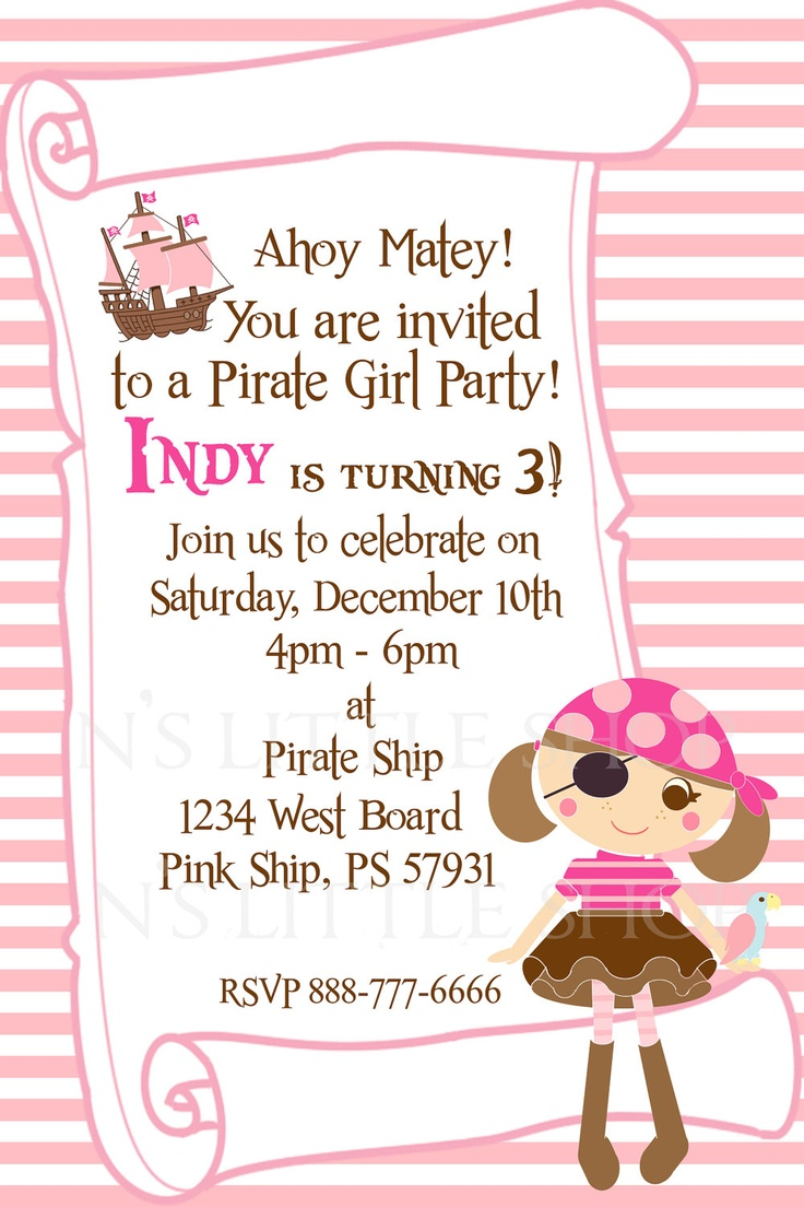 Invitation Cards For Birthday Party For Girls Fabulous Invitation