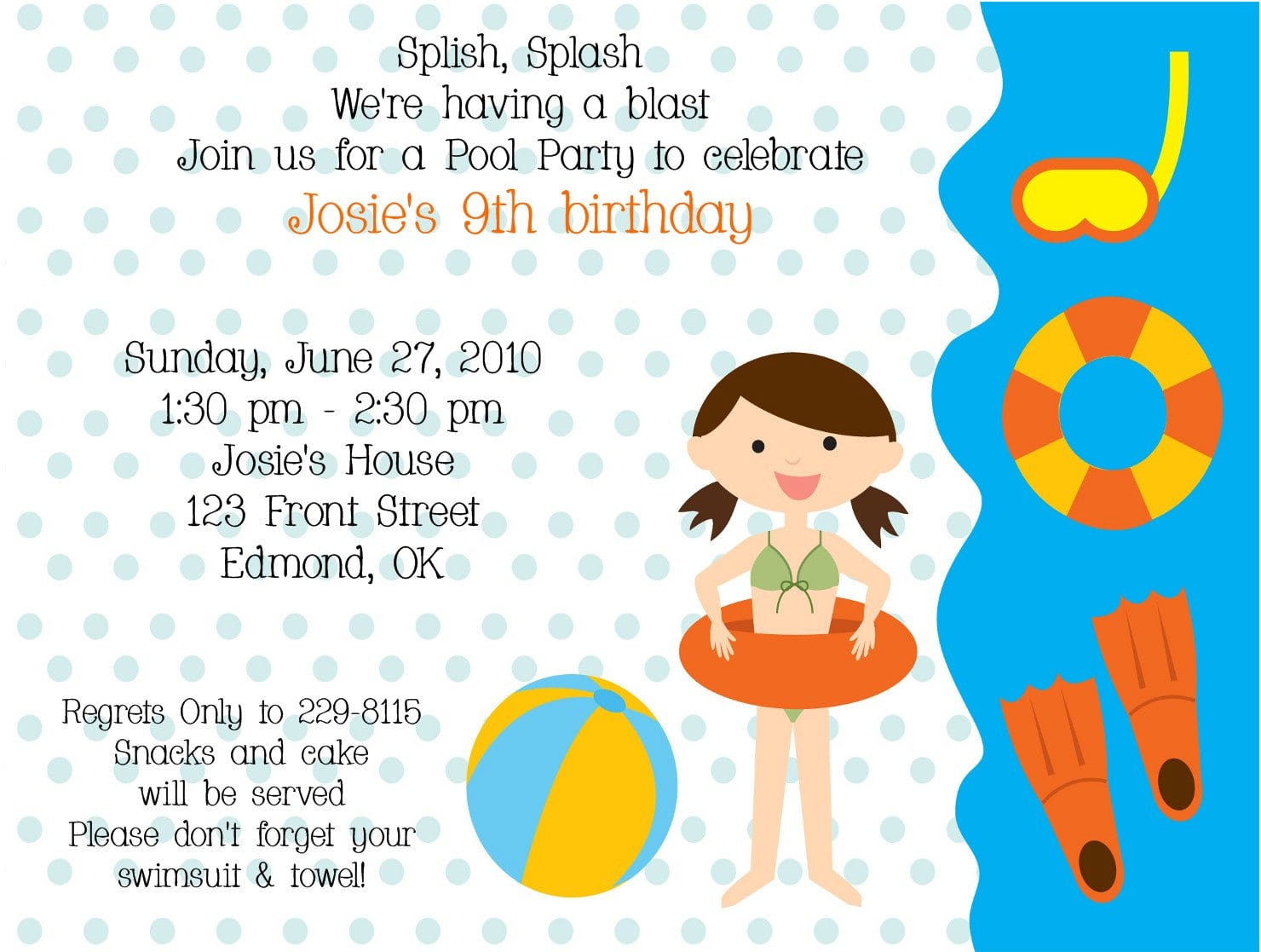 Invitation Letter For A Birthday Party