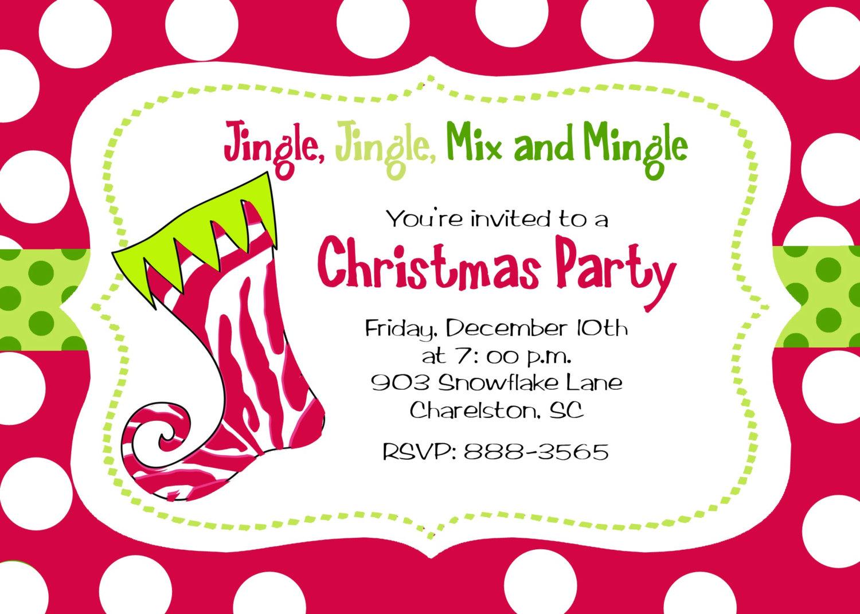 Invitation Wording Christmas Party