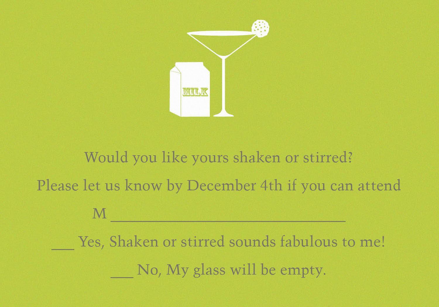 Invitation Wording For Cocktail Party