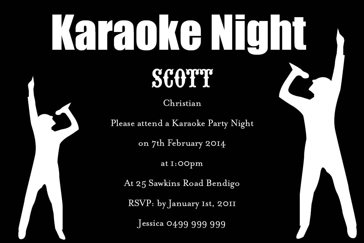 Karaoke Party Invitation Mickey Mouse Invitations Templates