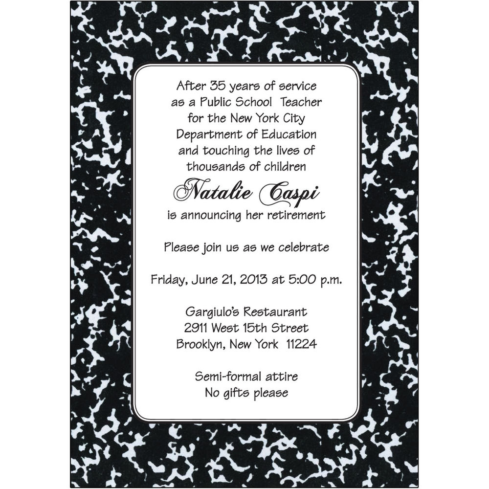Retirement Party Invitations Wording - Mickey Mouse Invitations ...