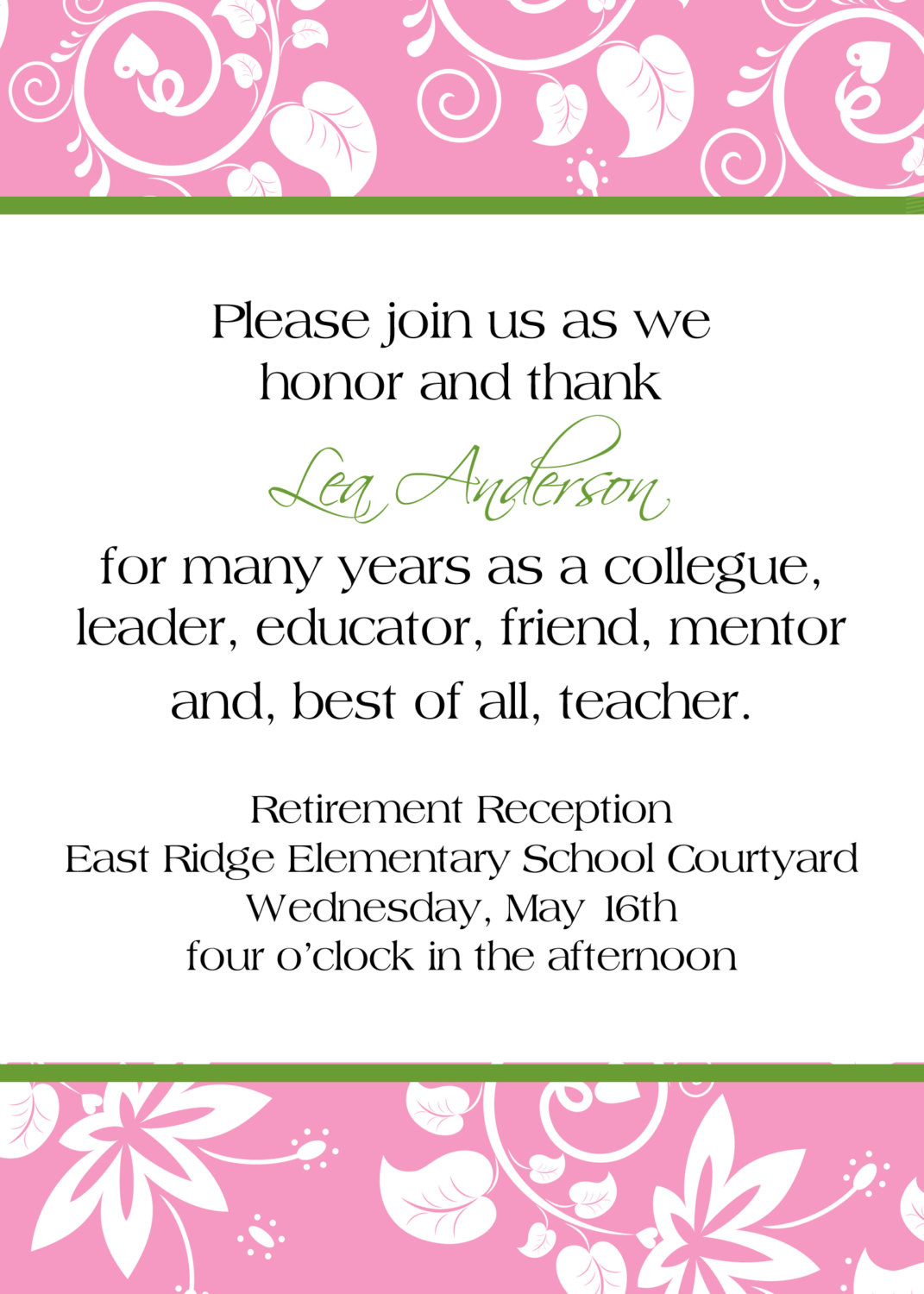 Retirement party invitations wording mickey mouse invitations invitation wording for retirement party invitation wording for retirement party stopboris Images