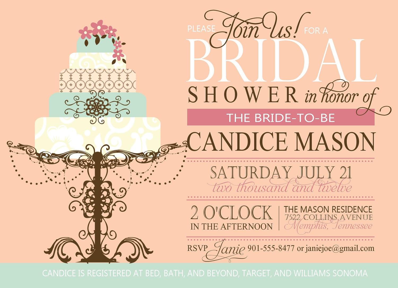 Invitations Bridal Shower
