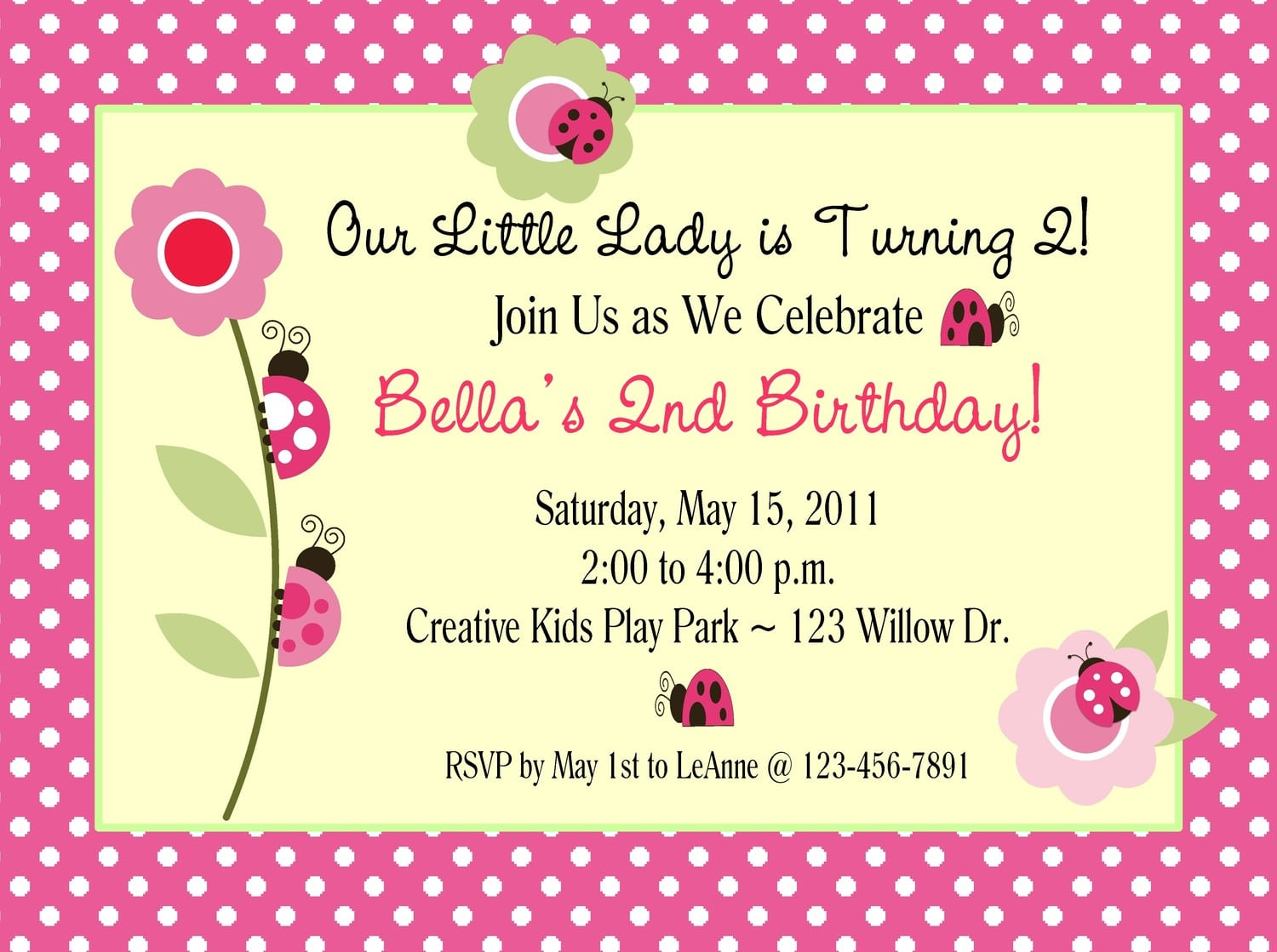 Invitations For Birthday Party