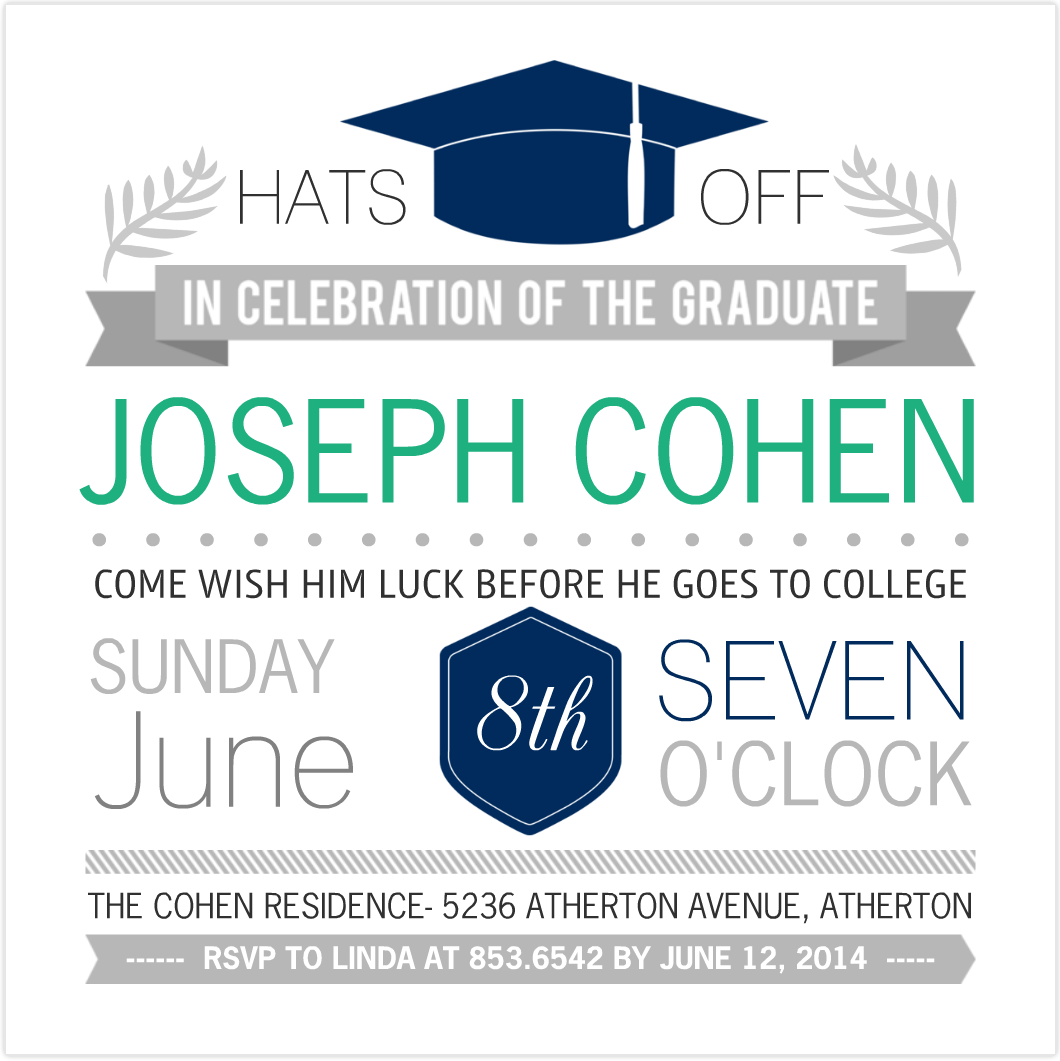 Invitations For Graduation Party