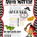 Jake The Pirate Party Invitations