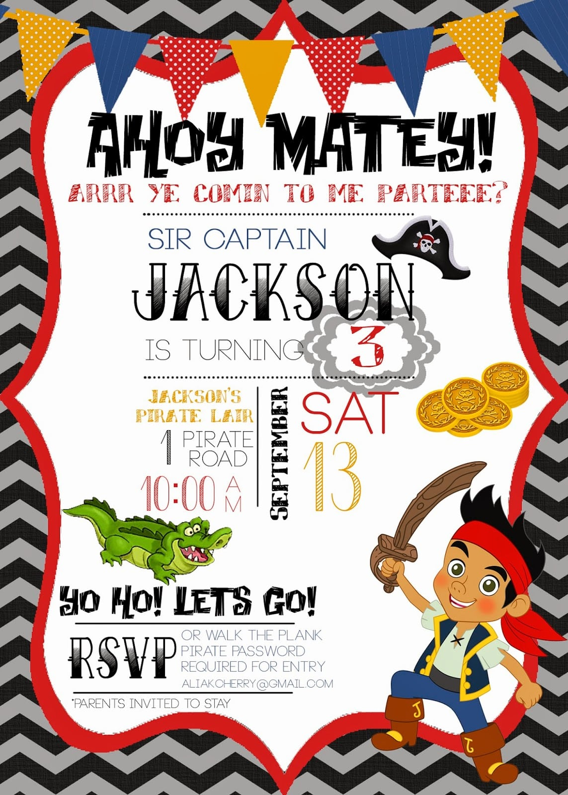 Imágenes de Jake And The Neverland Pirates Birthday Party ...